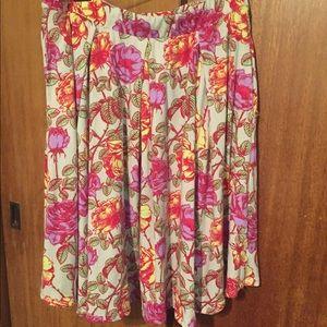 LuLaRoe Floral xl Madison skirt